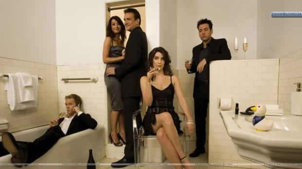 How-I-Met-Your-Mother-Photoshoot-In-Bathroom