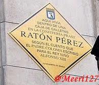 Placa Ayto Madrid Ratón Pérez. Maria Meco Parra