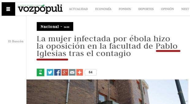 Pablo-Iglesias y ebola