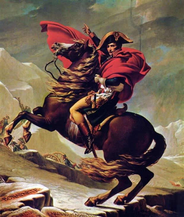 Napoleón Cuzando los Alpes